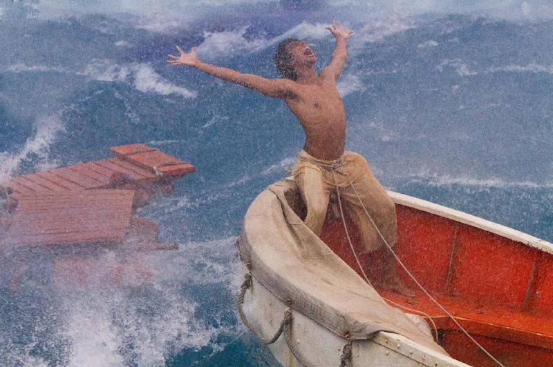 """This film image released by 20th Century Fox shows Suraj Sharma as Pi Patel in a scene from """"Life of Pi."""" (AP Photo/20th Century Fox, Peter Sorel)"""