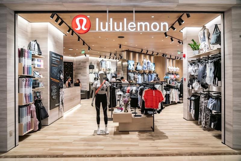 SHANGHAI, CHINA - 2019/07/19: Canadian athletic apparel retailer Lululemon store and logo seen in Shanghai. (Photo by Alex Tai/SOPA Images/LightRocket via Getty Images)