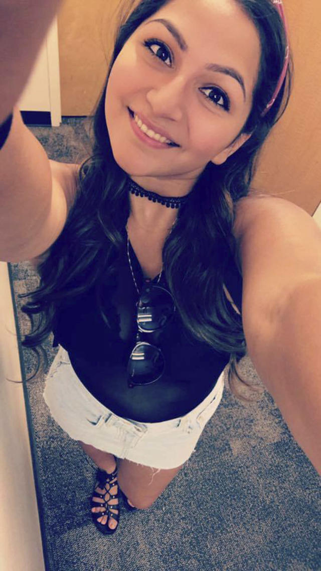 <p>This undated photo shows Angie Gomez, one of the people killed in Las Vegas after a gunman opened fire on Sunday, Oct. 1, 2017, at a country music festival. (Facebook via AP) </p>