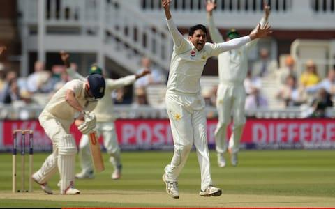 Mohammad Abbas of Pakistan appeals and dismisses Alastair Cook of England - Credit: Philip Brown/Getty Images