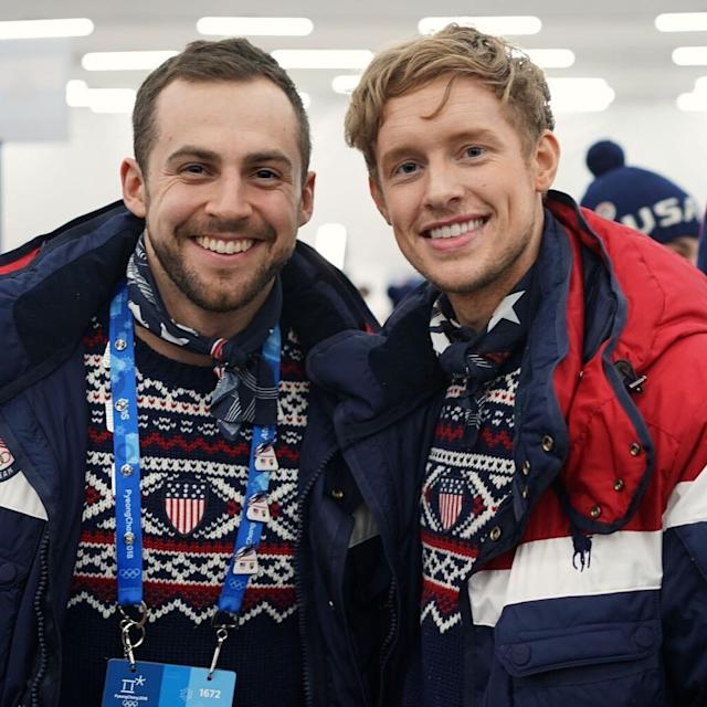 <p>@evan_bates: Woke up to some historic news. My man @mazdzer won the first ever men's singles luge medal for our country. Way to go, Chris! #TeamUSA<br>(Photo via Instagram/evan_bates) </p>
