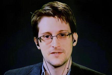 American whistleblower Snowden via video link from Moscow regarding International Treaty on the Right to Privacy, Protection Against Improper Surveillance and Protection of Whistleblowers in New York