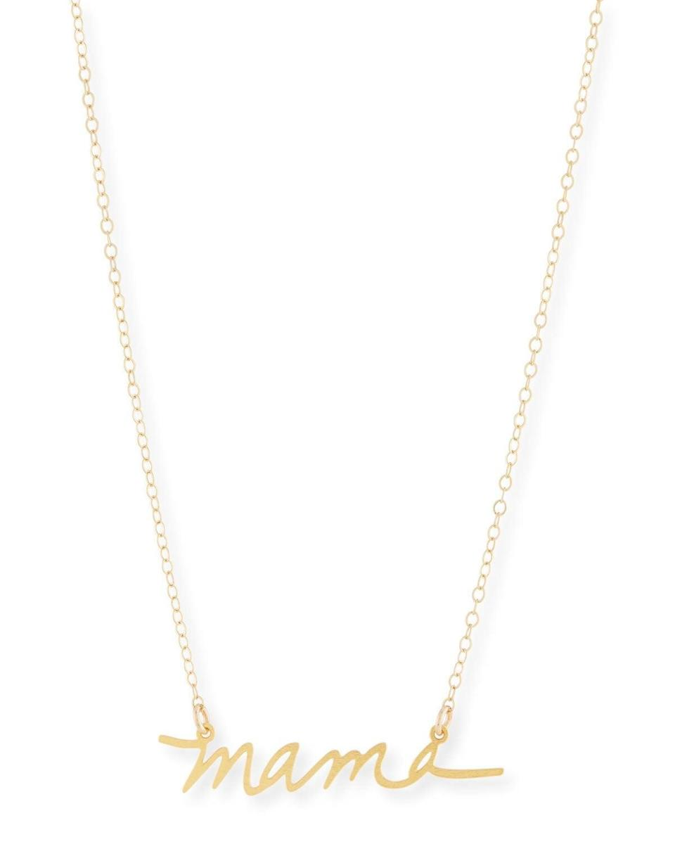 <p>The <span>Brevity Mama Small Pendant Necklace</span> ($108) is striking.</p>