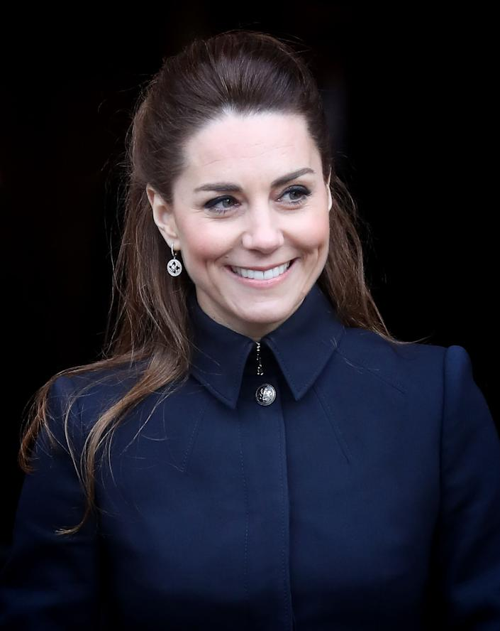 LOUGHBOROUGH, - FEBRUARY 11: Catherine, Duchess of Cambridge visits the Defence Medical Rehabilitation Centre, Stanford Hall on February 11, 2020 in Loughborough, United Kingdom. Known as 'DMRC Stanford Hall', the centre is operated by the MOD and began admitting patients in October 2018. They deliver in-patient and residential rehabilitation to serving members of the Armed Forces. (Photo by Chris Jackson/Getty Images) (Photo: Chris Jackson via Getty Images)
