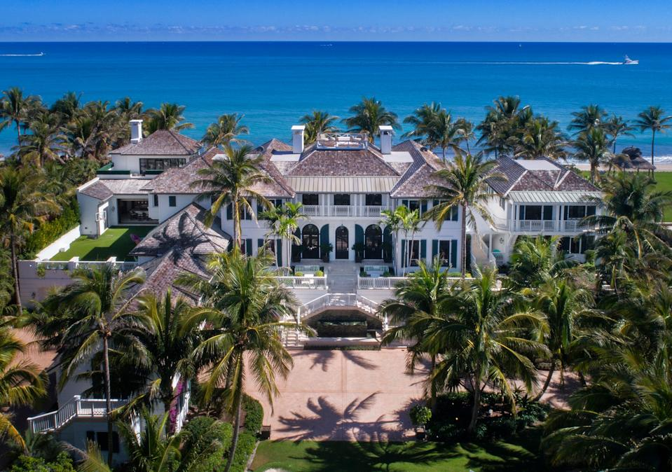 Elin Nordegren, the ex-wife of golf great Tiger Woods, has likely sold her oceanfront house at 12520 Seminole Beach Road for a recorded $28.641 million, courthouse records suggest. [Photo by Lifestyle Production Group, courtesy Sotheby's International Realty]