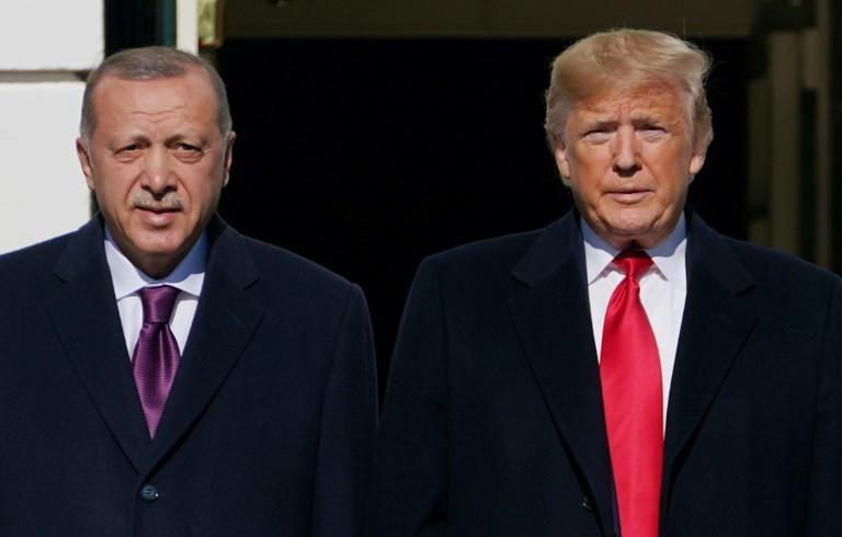 US President Donald Trump has spoken fondly of Turkey's President Recep Tayyip Erdogan, whom he is seen welcoming at the White House in November 2019
