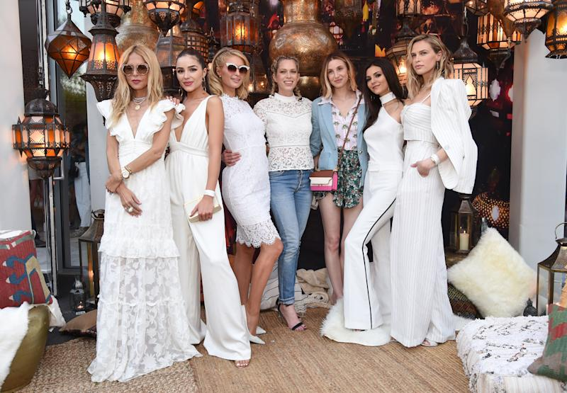 Rachel Zoe, Olivia Culpo, Paris Hilton, Erin Foster, Whitney Port, Victoria Justice, and Sara Foster attend Rachel Zoe's 4th Annual ZOEasis at Parker Palm Springs on April 13, 2018 in Palm Springs, California. (Photo by Michael Kovac/Getty Images for Belvedere Vodka)