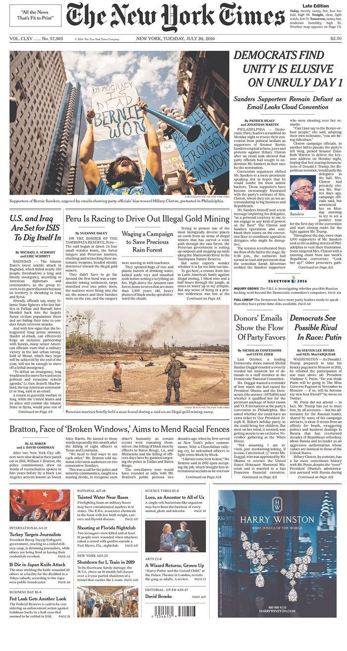 <p>Published in New York, N.Y. USA. (newseum.org) </p>