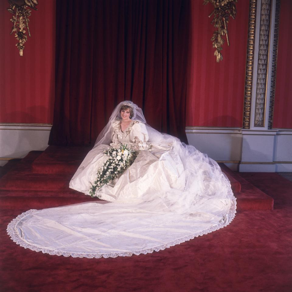Prince William and Prince Harry have given their permission for Princess Diana's wedding dress to be shown at Kensington Palace as part of a Historic Royal Palaces temporary exhibition. Photo: Getty