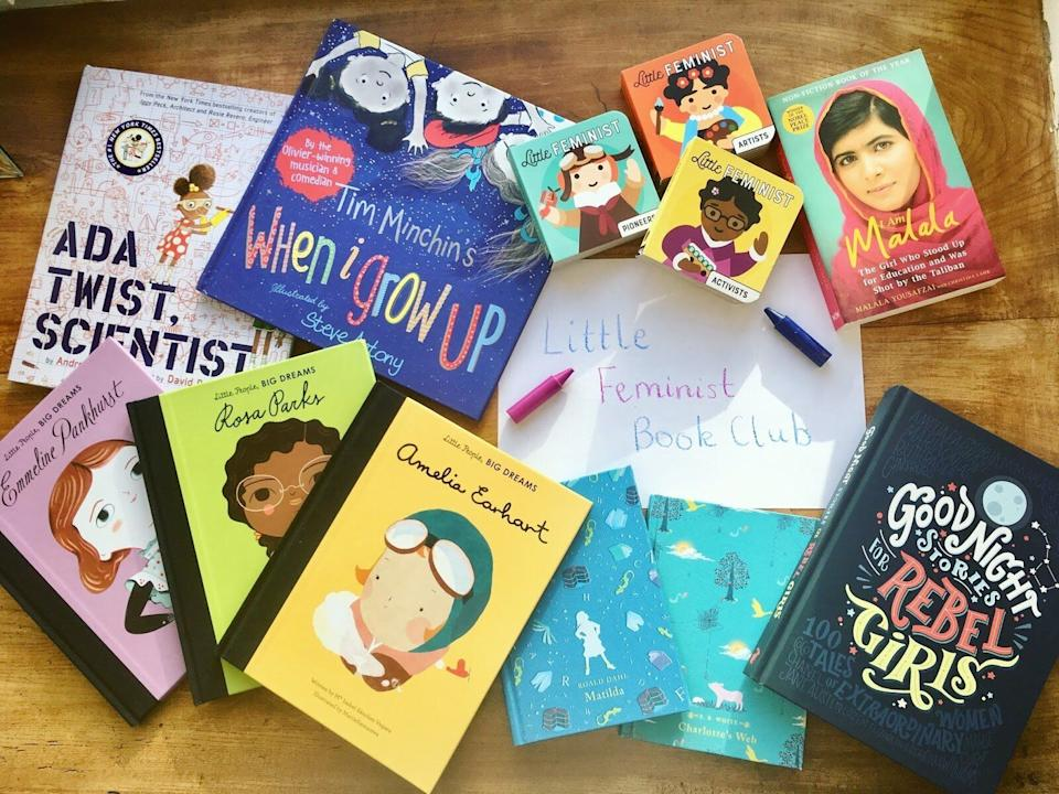 """<a href=""""https://fave.co/39ev9Yj"""" target=""""_blank"""" rel=""""noopener noreferrer"""">The Little Feminist</a> is a book and activity box centered around gender equality and diversity. A group of teachers, librarians and parents chooses a book of the month that features """"a strong female character and/or person of color."""" Kids can then learn more through provided activities, and parents can help encourage a conversation around the book, with help from family discussion questions. The <a href=""""https://fave.co/39ev9Yj"""" target=""""_blank"""" rel=""""noopener noreferrer"""">book club starts at $18 a month</a>, while the book and activity club begins at $33 a month."""