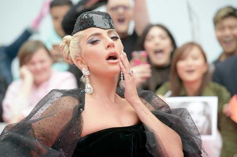 Lady Gaga Has Been Wearing the Same Pillbox Hat for 24 Hours With Three Different Outfits at TIFF