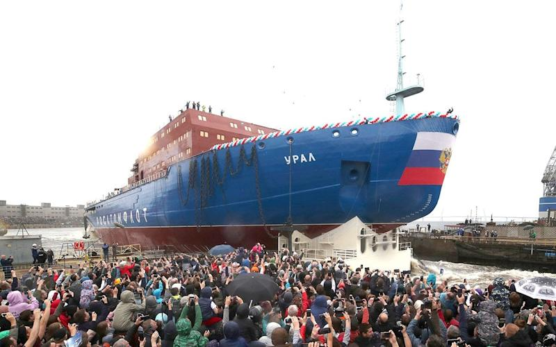 The ship, the Ural, is the one of a trio that will be the largest and most powerful icebreakers in the world - Reuters