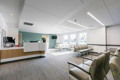 Blues and greens create a soothing sanctuary, perfect for healthcare and hospitality environments.