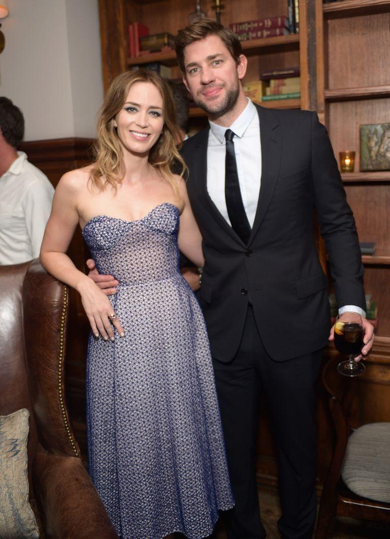 """<p>The actors were <a href=""""http://www.digitalspy.com/showbiz/news/a317998/john-krasinski-loved-emily-blunt-at-first-sight/"""" rel=""""nofollow noopener"""" target=""""_blank"""" data-ylk=""""slk:introduced"""" class=""""link rapid-noclick-resp"""">introduced</a> by Blunt's <em>Devil Wears Prada</em> costar, Anne Hathaway. For Krasinski, it was love at first sight. </p><p>""""It was one of those things where I wasn't really looking for a relationship and I was thinking <em>I'm going to take my time in L.A.</em> Then I met her and I was so nervous. I was like, <em>Oh god, I think I'm going to fall in love with her.</em> As I shook her hand I went, 'I like you.'""""<br></p>"""