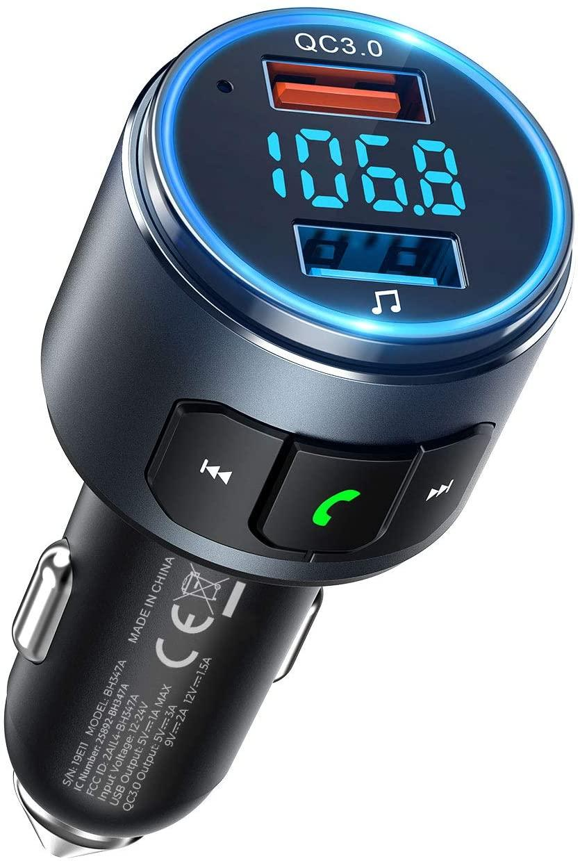 VicTsing FM Transmitter for Car Bluetooth 5.0 - Amazon.
