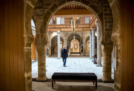 Andre Azoulay, adviser to the Moroccan king, at the Bayt Dakira (House of Memory) Jewish museum, in Morocco's Atlantic coastal city of Essaouira