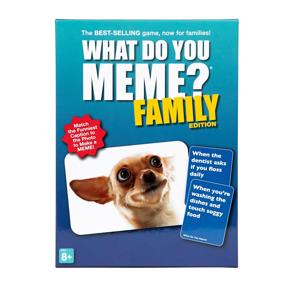 <p>We love a special gift that the whole family can get involved in, like <span>What Do You Meme? Family Edition </span>($20), which will </p>