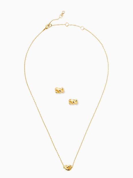Sailor's Knot Studs and Mini Pendant Bundle (Photo via Kate Spade)