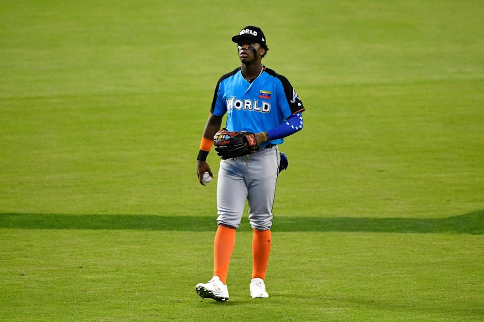 Outfielder Ronald Acuna is the top prospect in a deep Atlanta Braves farm system. (Getty Images)
