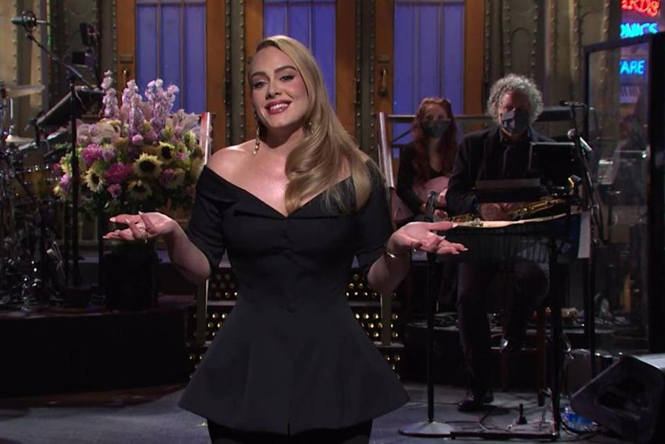 Adele delivering her opening monologue on Saturday Night Live (NBC/Saturday Night Live)