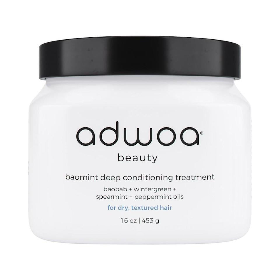 """<p><strong> The Product: </strong> <span>adwoa beauty Baomint Deep Conditioning Treatment</span> ($36)</p> <p><strong> The Rating: </strong> 4.4 stars </p> <p><strong> Why Customers Love It: </strong> Made with shea butter, prickly pear oil, and pumpkin seed oil, this mask was deemed """"a spa in a jar!"""" Customers say that """"it is amazing at adding moisture and cuts detangling down to mere minutes.""""</p>"""