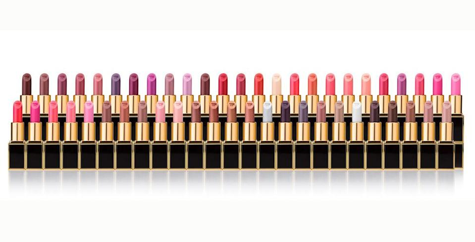 """<p>The <a href=""""https://www.yahoo.com/beauty/drake-is-getting-a-lipstick-thanks-to-tom-ford-210321920.html"""" data-ylk=""""slk:50-shade Lips & Boys;outcm:mb_qualified_link;_E:mb_qualified_link;ct:story;"""" class=""""link rapid-noclick-resp yahoo-link"""">50-shade Lips & Boys</a> set (a combo of previous best-sellers and new shades) will be available on Black Friday for $1,950. You can also just purchase one of the <a href=""""http://www.tomford.com/women/lips/"""" rel=""""nofollow noopener"""" target=""""_blank"""" data-ylk=""""slk:silky, moisturizing lipsticks"""" class=""""link rapid-noclick-resp"""">silky, moisturizing lipsticks</a> from the collection instead of the full set, at $35 a pop (also on Black Friday).</p>"""