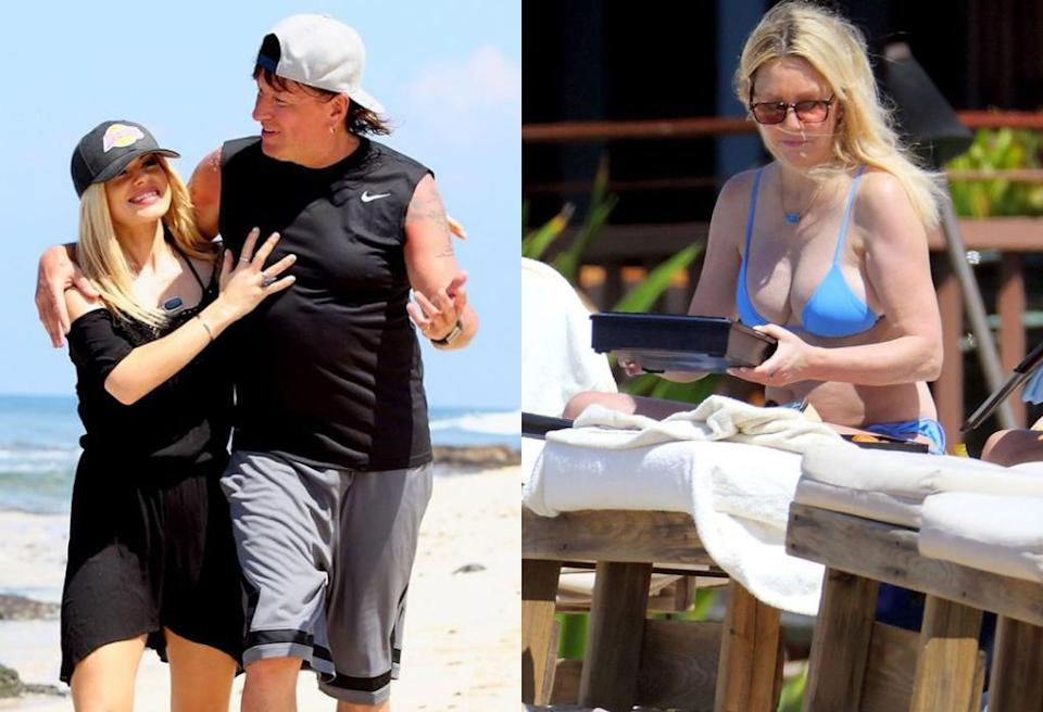 """<p>Heather Locklear and Richie Sambora are proof that being friends with an ex is possible. After a nasty split in 2006, the parents of Ava figured out how to be cordial and — gasp — even friends. The actress and musician have made family spring break a """"thing,"""" and have been spotted on vacation together with Ava in Bora Bora and Hawaii. Sambora even <a rel=""""nofollow"""" href=""""https://www.yahoo.com/celebrity/heather-locklear-vacations-in-hawaii-with-daughter-and-richie-sambora-after-rumored-rehab-stint-010848296.html"""" data-ylk=""""slk:brought along his girlfriend;outcm:mb_qualified_link;_E:mb_qualified_link;ct:story;"""" class=""""link rapid-noclick-resp yahoo-link"""">brought along his girlfriend</a> for the latter trip. (Photo: Mega Agency) </p>"""