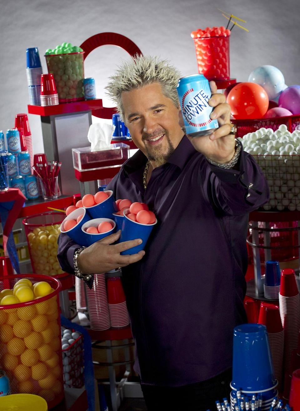 <p>Even though Guy Fieri is known as a chef and restaurateur, he also hosted this popular show on NBC back in 2013. Contestants had one minute to complete a series of games for up to $1 million as the cash prize. The games involved regular household items, like plastic cups and marbles. The show aired for two more seasons on GSN, with Nick Jonas as the host.</p>