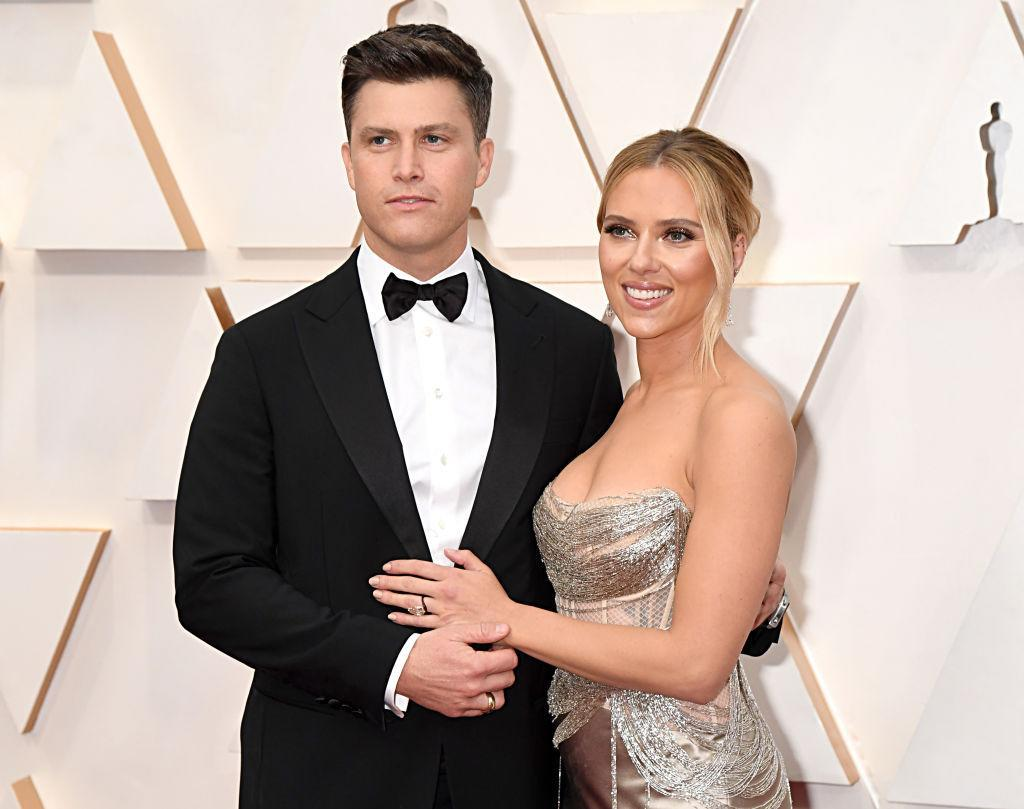 The couple have named their son Cosmo, pictured in February 2020. (Getty Images)