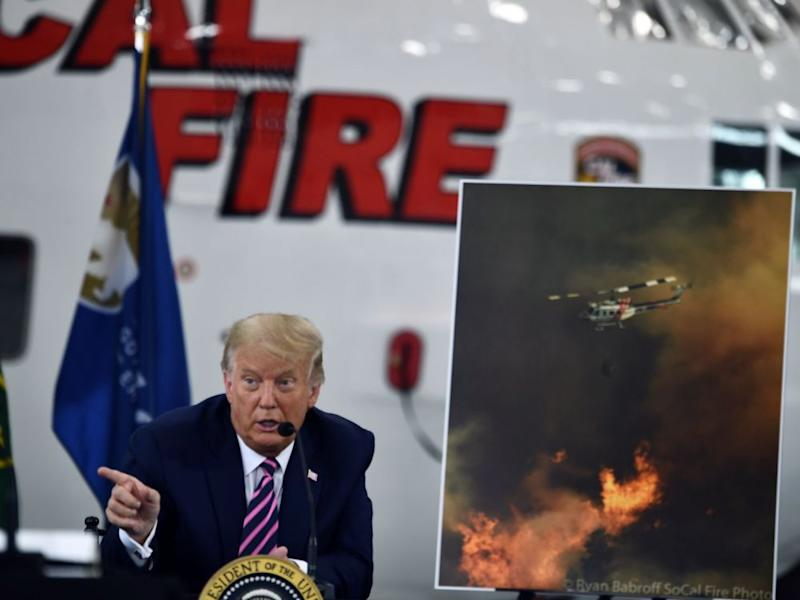 "Incendies: ""Ça finira par se refroidir"", lance Trump en Californie"