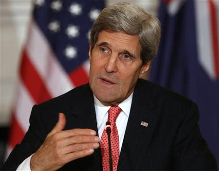 U.S. Secretary of State John Kerry answers a question during a news conference at the State Department in Washington November 20, 2013. REUTERS/Kevin Lamarque
