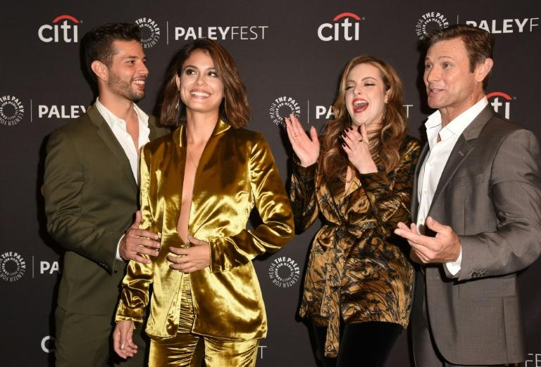 """""""Dynasty"""" cast members Rafael de la Fuente, Nathalie Kelley, Elizabeth Gillies and Grant Show attend the 11th annual PaleyFest Fall TV Previews on September 9, 2017"""