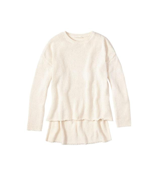 """<p>Eileen Fisher Cozy Organic Cotton Round Neck Top in Soft White, $248, <a href=""""https://www.eileenfisher.com/round-neck-top-in-cozy-organic-cotton-f7bow-w4439/?&size-range=1786&color=2065"""" rel=""""nofollow noopener"""" target=""""_blank"""" data-ylk=""""slk:eileenfisher.com"""" class=""""link rapid-noclick-resp"""">eileenfisher.com</a> </p>"""