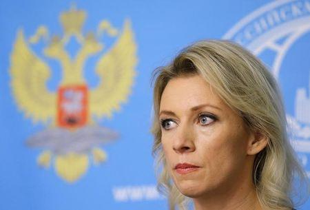 FILE PHOTO - Spokeswoman of the Russian Foreign Ministry Zakharova attends a news briefing in Moscow