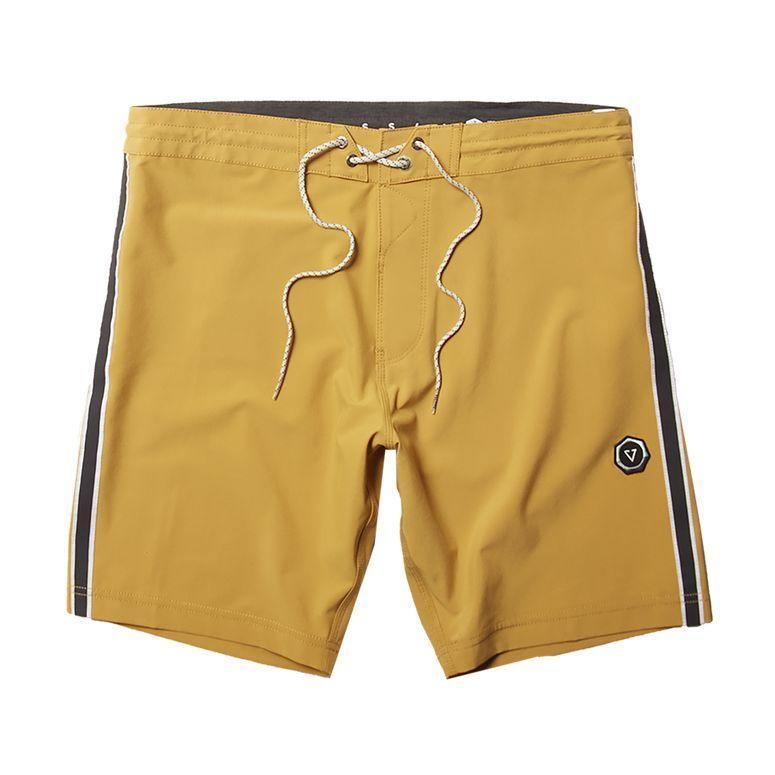 """<p><strong>Item Code:M112KTRI-GHR</strong></p><p>vissla.com</p><p><strong>$60.00</strong></p><p><a href=""""https://www.vissla.com/shop/shop/the-trip-175-boardshort/golden-hour/"""" rel=""""nofollow noopener"""" target=""""_blank"""" data-ylk=""""slk:BUY IT HERE"""" class=""""link rapid-noclick-resp"""">BUY IT HERE</a></p><p>Made to surf, these boardshorts come in four-way stretch recycled fibers to help your suit move with you, not against you.</p>"""