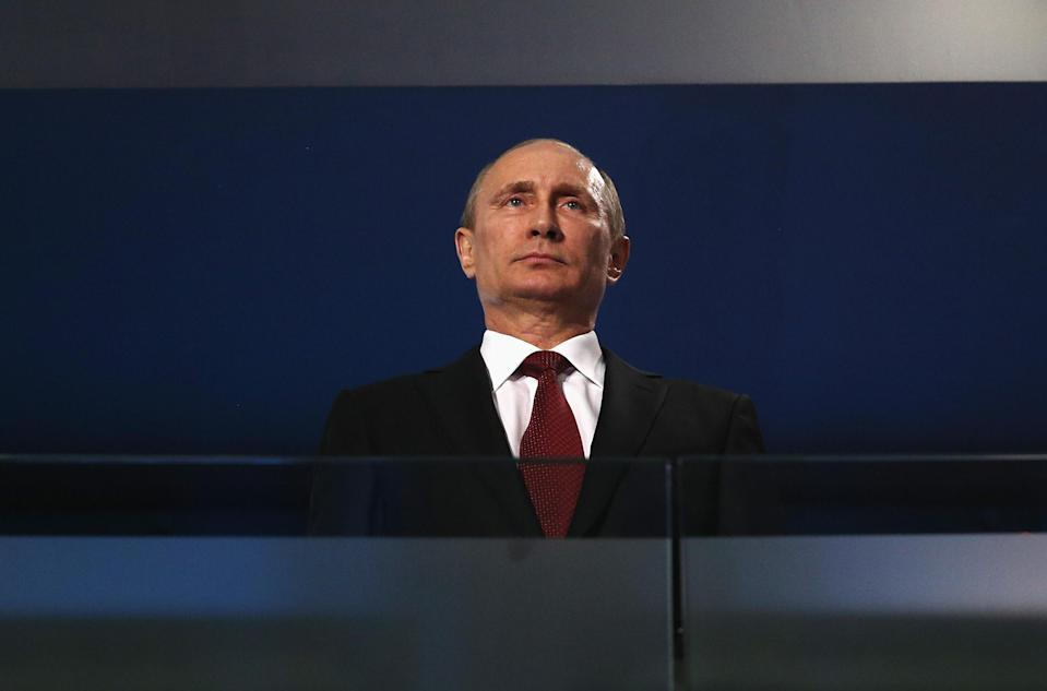Vladimir Putin's brutal regime hosting the World Cup presents a mess of problems. (Getty)