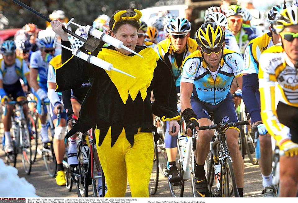 Lance Armstrong menaced by a specter of his past doping