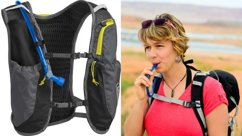 Make hydration easy with a Camelbak vest.