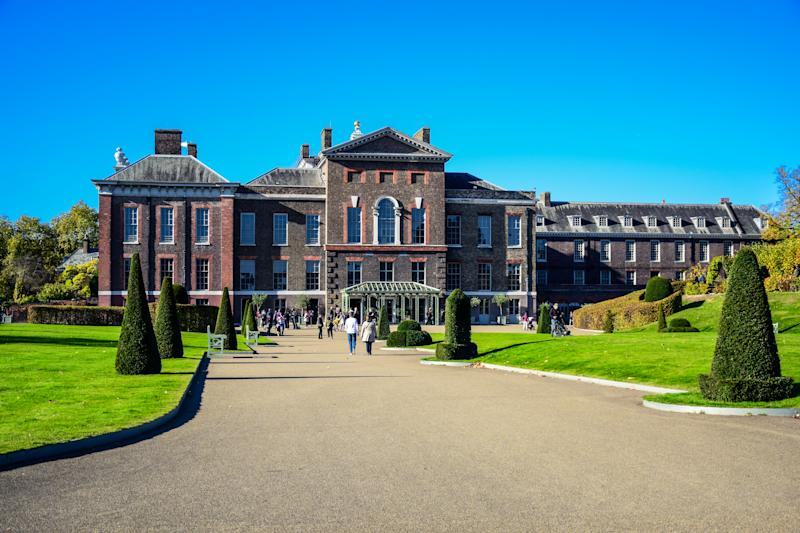 Kensington Palace, a royal residence set in Kensington Gardens, in the Royal Borough of Kensington and Chelsea in London, England, United Kingdom