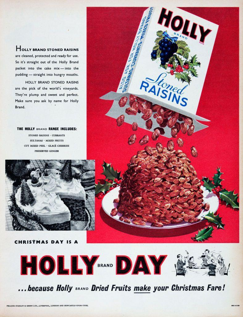"<p>If it were up to this festive and clever Holly Brand ad, stoned raisins would be a part of every holiday dish. And here's a fun fact: the UK term ""stoned raisins"" simply means raisins without a pit.</p>"