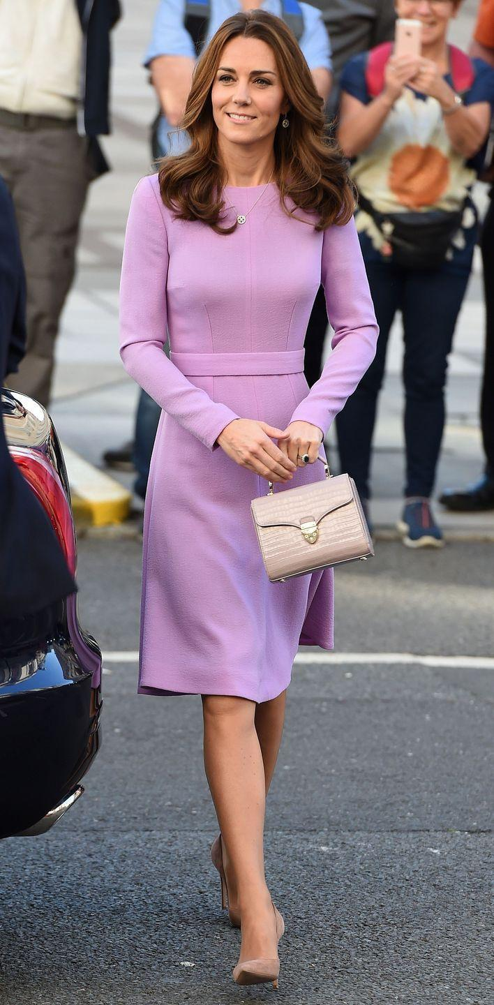 <p>Kate Middleton made a glamorous post-maternity-leave appearance in a trusty lilac Emilia Wickstead dress that we had seen once before...</p>
