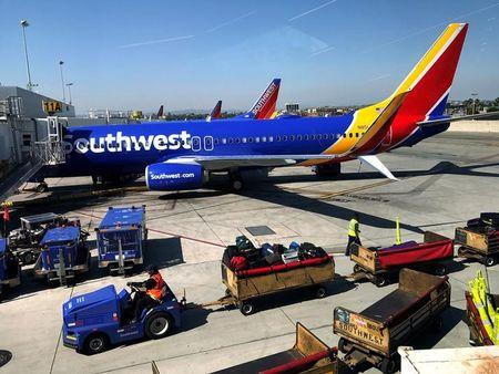 FILE PHOTO: Southwest Airlines plane is seen at LAX in Los Angeles