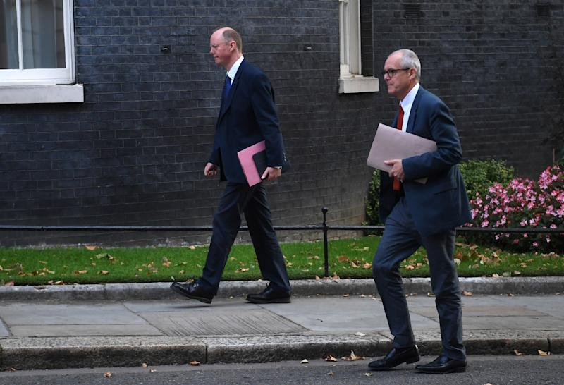 Chief medical officer Chris Whitty and chief scientific adviser Patrick Vallance advised No 10 on latest changesEPA