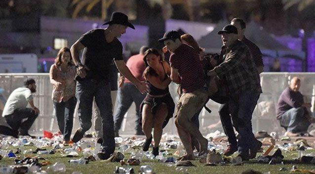 Paddock planned the massacre by choosing a luxury suite on the 32nd floor of the Mandalay Bay casino with a view over a country music festival attended by 22,000 people. Photo: Getty
