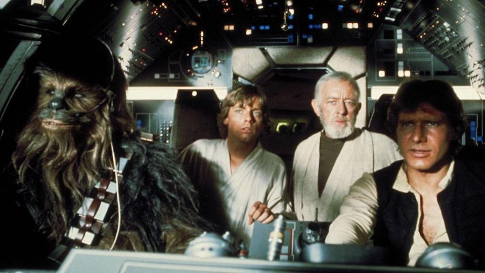 The scene in the Millennium Falcon cockpit was one of many scenes that were much longer in the lost cut of the original Star Wars.