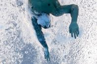 """<p>Dressel, of the United States, swims to victory in <a href=""""https://people.com/sports/tokyo-olympics-caeleb-dressel-wins-second-gold-mens-100m-freestyle/"""" rel=""""nofollow noopener"""" target=""""_blank"""" data-ylk=""""slk:the men's 100m freestyle final."""" class=""""link rapid-noclick-resp"""">the men's 100m freestyle final.</a></p>"""
