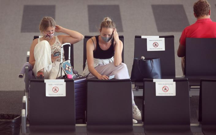 Travellers at Split airport. People entering the UK from Croatia after 4am today will have to quarantine - GETTY IMAGES