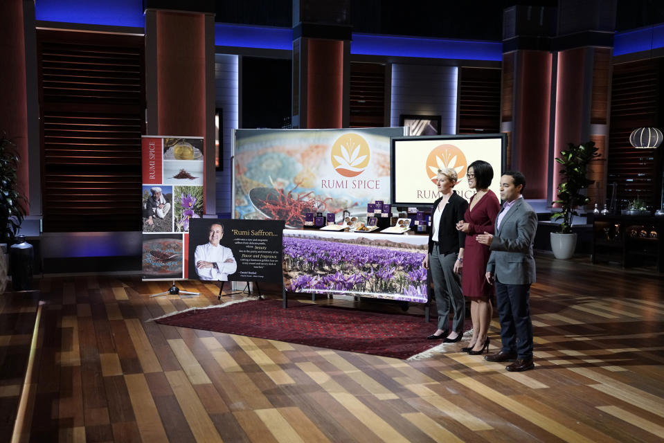 """On """"Shark Tank,"""" episode 824, U.S. Army veterans hope to empower farmers in a war-torn country by helping them cultivate and harvest saffron."""