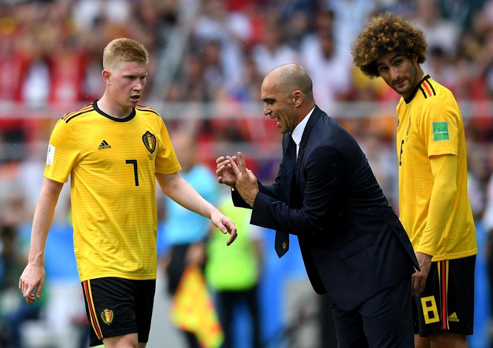 Belgium manager Roberto Martinez has used Kevin De Bruyne in a role that doesn't suit the Manchester City playmaker. Against Brazil in the World Cup quarterfinals, Martinez might have to make a tweak. (Getty)