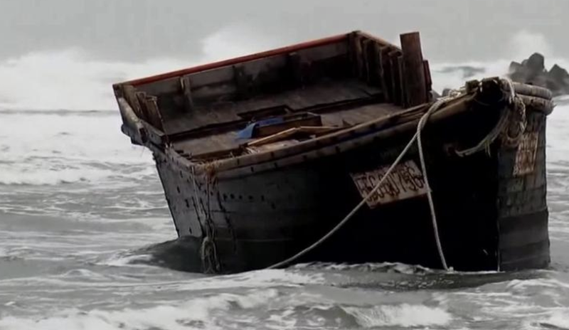 The ship washed up on Sado Island on Friday containing the dead bodies. Source: CNN